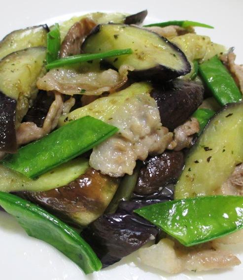 ナスと豚肉のイタリアンハープソテー B