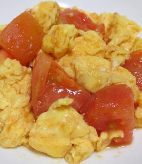 トマトと卵のオイスターソース炒め 拡大