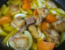 鶏肉のサフランスープ煮 調理④