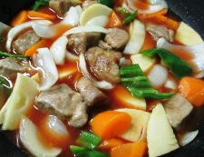 酢豚 調理⑤