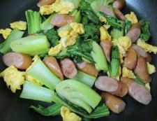 ソーセージと青梗菜のさっぱり炒め 調理⑥