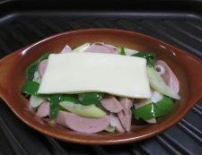 おさかなソーセージのチーズ焼き 調理⑤