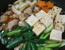 鶏もも肉と焼き豆腐の煮物 調理⑤