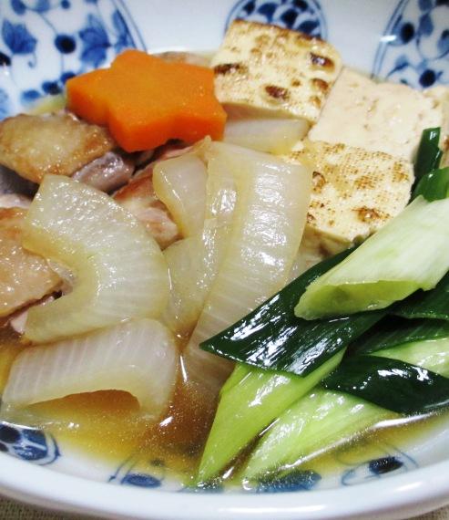 鶏もも肉と焼き豆腐の煮物 拡大