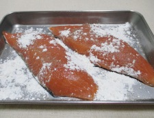 秋鮭のバジルレモンバターソース 【下準備】②