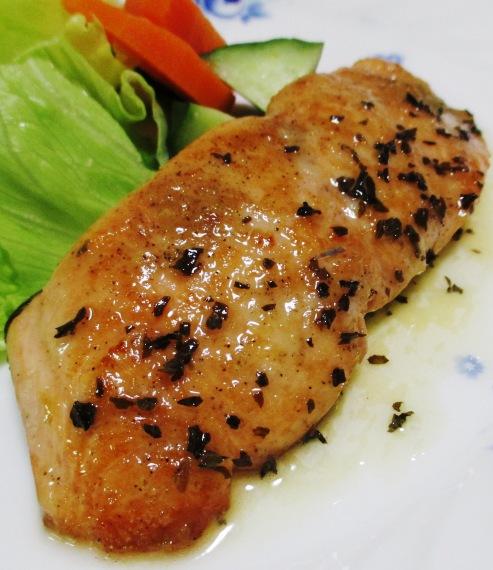 秋鮭のバジルレモンバターソース B