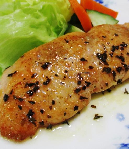 秋鮭のバジルレモンバターソース 拡大