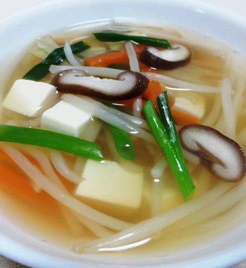 しいたけともやしのスープ B