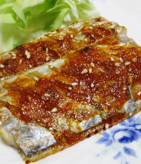 太刀魚のコチュジャン焼き 拡大