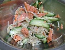 塩鮭えのき 調理④