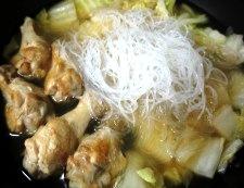 手羽元と白菜のオイスターソース煮 調理⑤