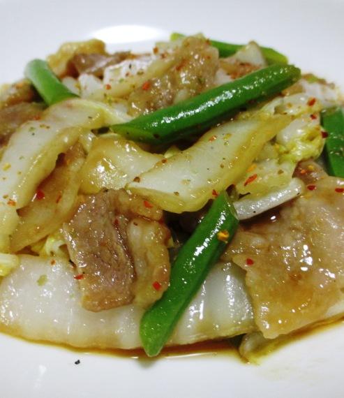 豚バラと白菜のポン酢炒め 拡大