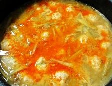 ごぼうと鶏だんごの坦々スープ煮 調理⑤