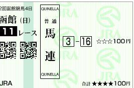 函館記念。
