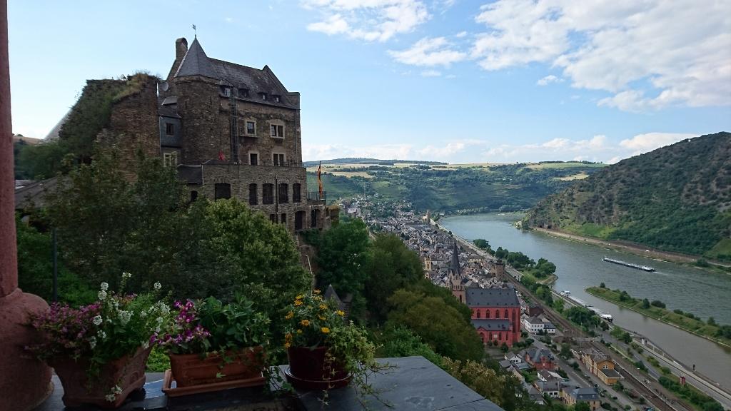 古城ホテルからライン河を眺めて
