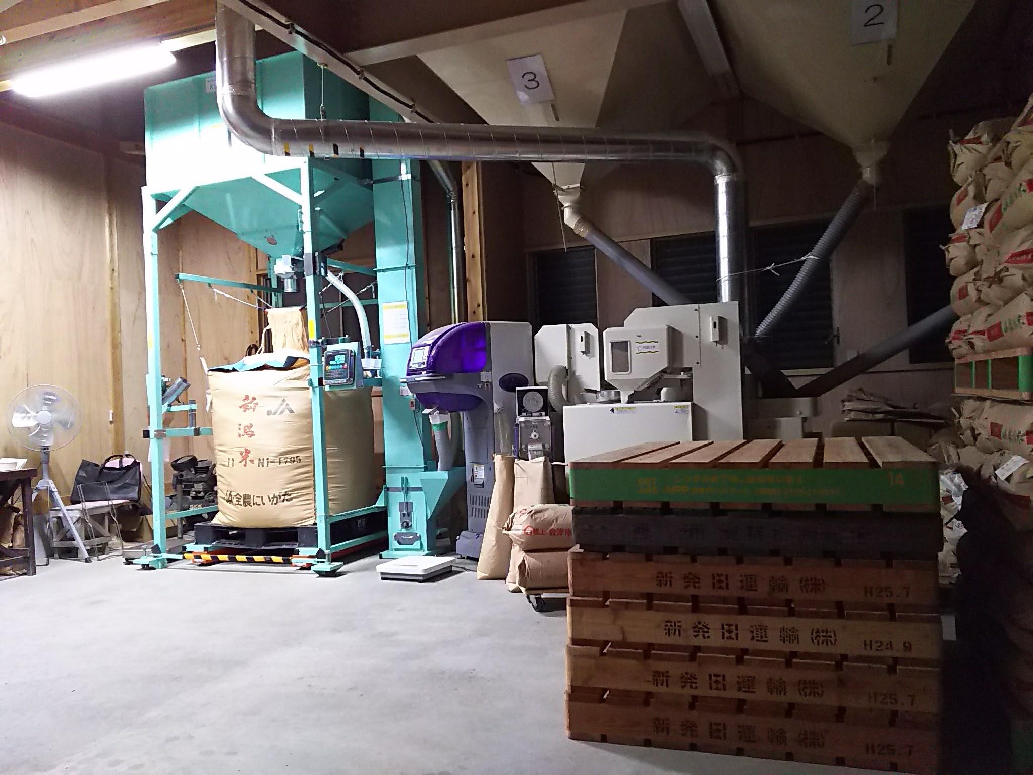 夜の作業場