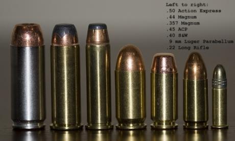 拳銃銃弾比較用B