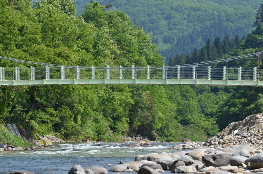 塩野渕の吊り橋-2
