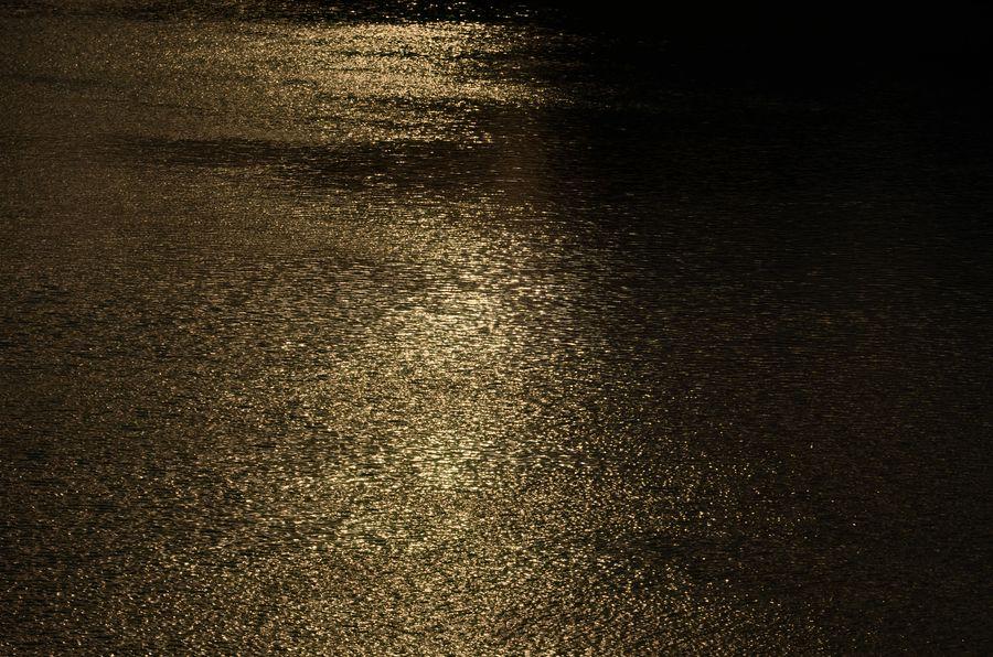 夕陽の川面-5