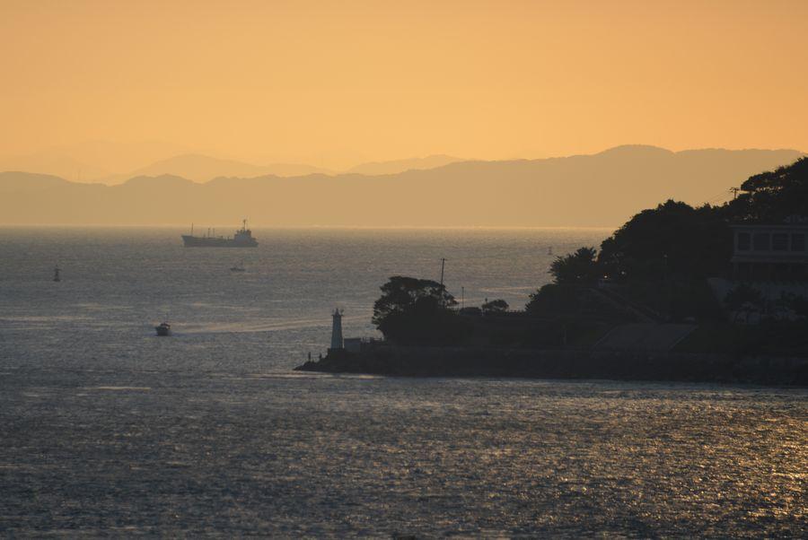 関門海峡 朝焼け-3