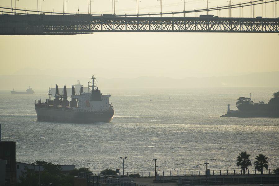 関門海峡 朝焼け-5