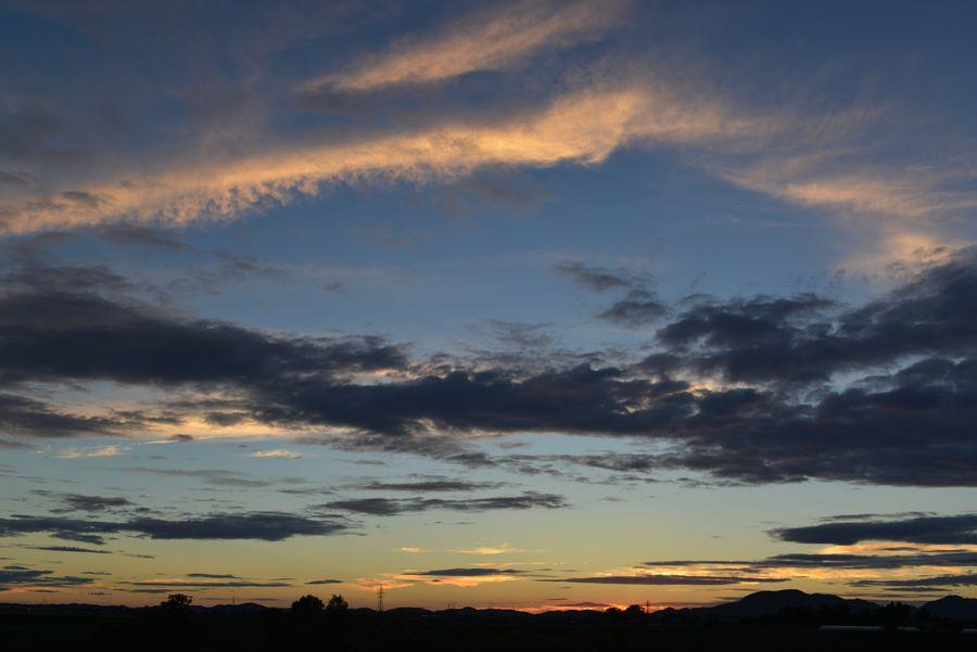 今日の夕陽 フェーン現象-5