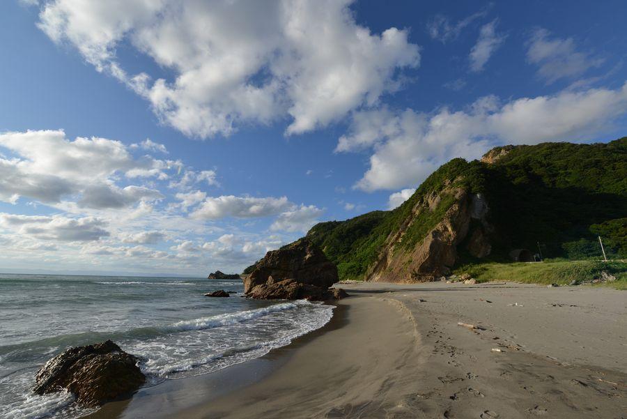夏の終わりの海岸-3