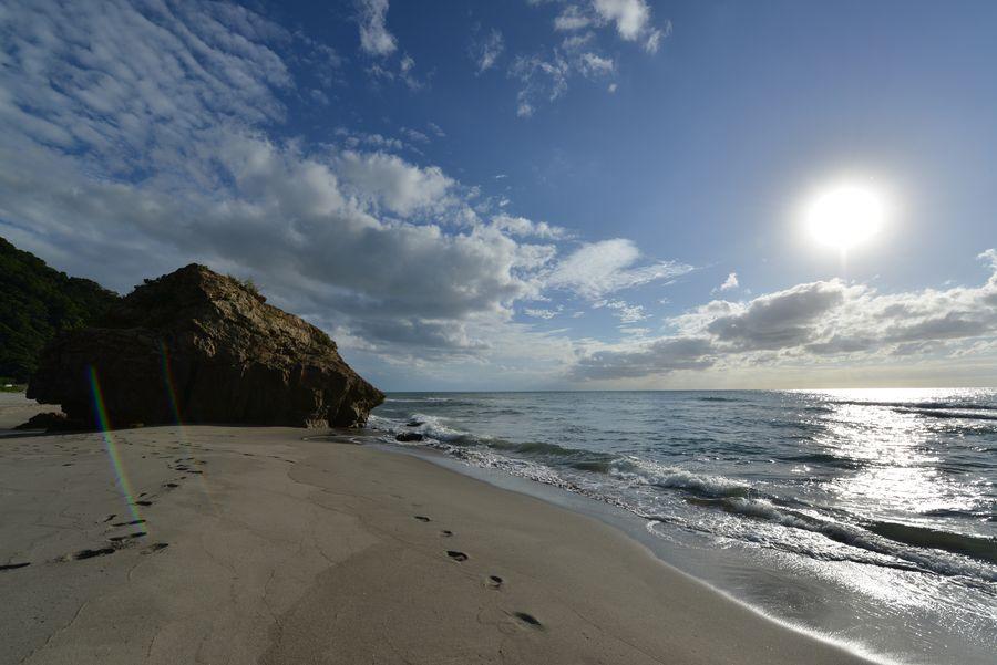 夏の終わりの海岸-4