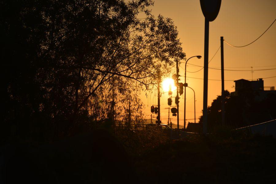 8月末日の夕陽-1