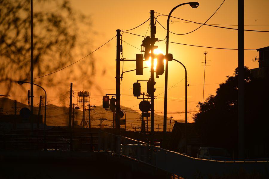 8月末日の夕陽-2