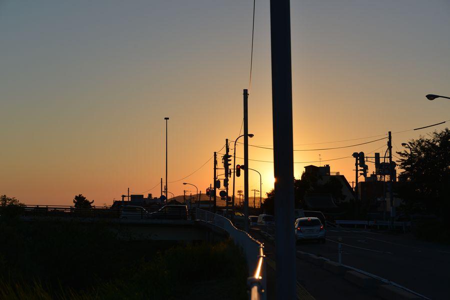 8月最後の夕陽-5