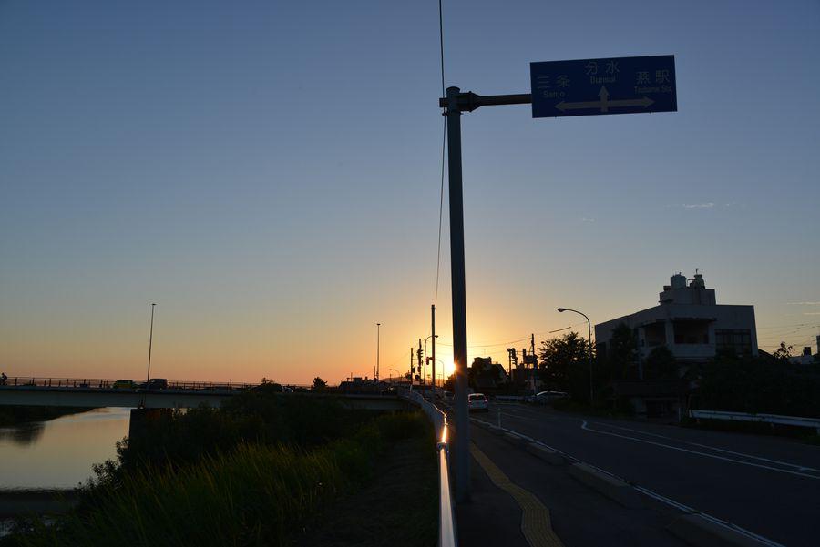 8月最後の夕陽-6