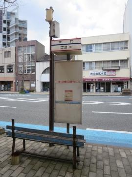 店前は西鉄・大門のバス停