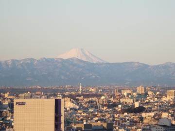 冬の空気が澄んだ日。富士山まで見える日は嬉しい