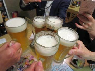 199円と激安の生中で乾杯!