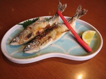 鮎の塩焼き 1080円(税込)