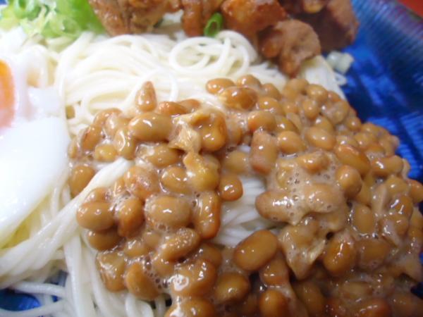 8/25家食・ 納豆ソーメン