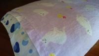 ガーゼタオルハンカチを枕カバー代わりに (1)