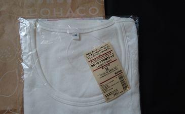 無印良品オーガニックコットンストレッチTシャツ