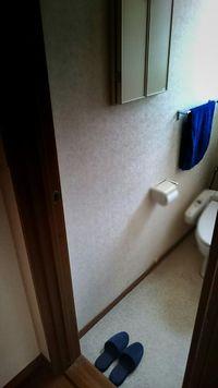 トイレのタオルをインディゴブルーに変えた