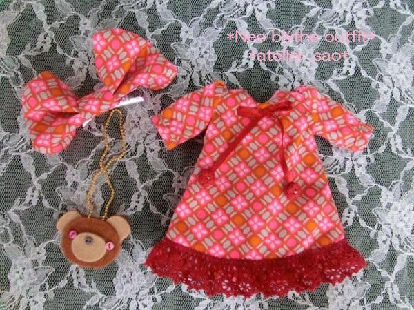 ◆ネオブライス◆ピンクとクマポシェットわんぴ 3