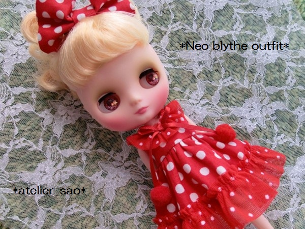 ◆ミディブライス◆赤の水玉ドレス1