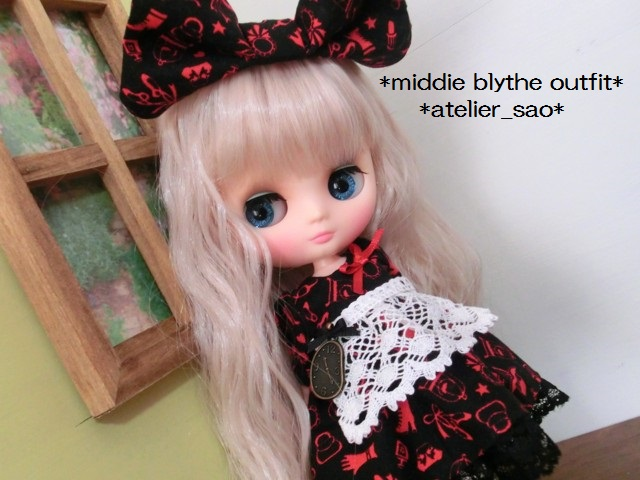 ミディブライス服◆赤と黒のアリス1