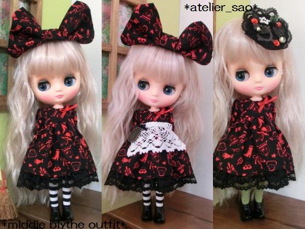 ミディブライス服◆赤と黒のアリス2