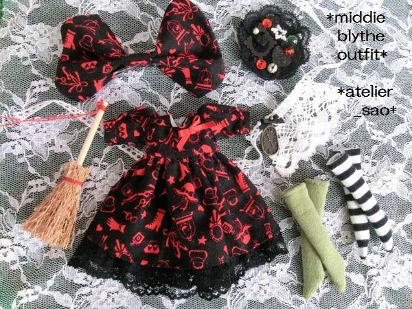 ミディブライス服◆赤と黒のアリス3