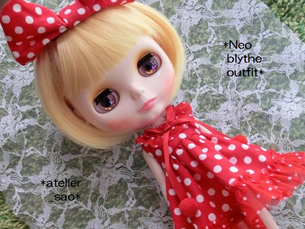 ◆ネオブライス◆赤の水玉ドレス1