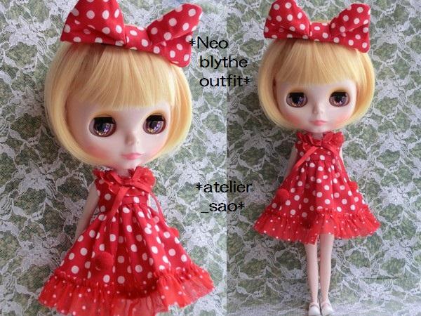 ◆ネオブライス◆赤の水玉ドレス2