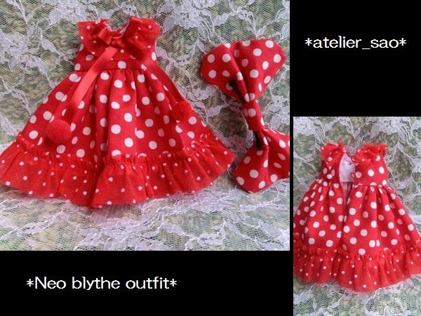 ◆ネオブライス◆赤の水玉ドレス3