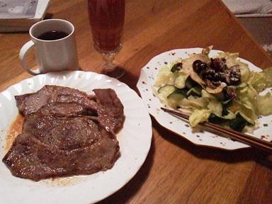 160521 ステーキ2枚食べる