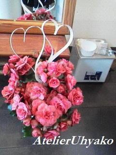 160607有心個展 ギャラリーの花